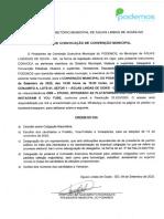 Edital Da Convenção Podemos Águas Lindas de Goiás