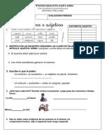 Evaluacion de castellano IIperiodo-