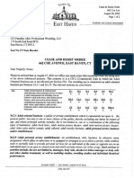 East Haven Zoning Cease & Desist Order 662 Coe Ave. Aug. 28. 2020