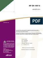 NF EN 1097-6 (2014) masse volumique réelle et du coefficient d'absorption d'eau