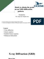 Scherrer equation, Modified Scherrer equation, Williamson-hall plot