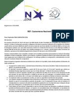 Comunicado P&N COMPUSTAR LTDA