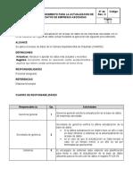 PREOCEDIMIENTO ACTUALIZACION DE BASE DE DATOS