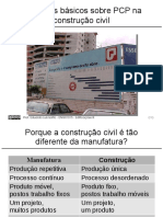 Disciplina de Edificações III UFRGS - Conceitos Básicos PCP Construção Civil