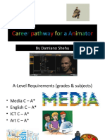 Career Pathway for a Animator