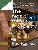Os Ritos Mágicos da Prosperidade Baal Kadmon