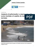 02-07-2020 Anuncia el gobernador a empresarios del sector turismo el cambio de semáforo a naranja.