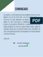 COMUNICADO ENTREGA 2