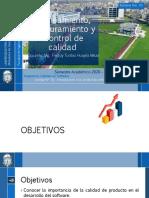 Clase 3 Planeamiento, Aseguramiento y Control de Calidad, Modelos y Normas
