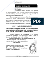 MONICION DE ENTRADA