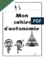 cahier autonomie PS final.pdf · version 1