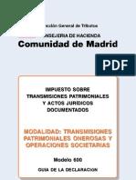10-11 DF F 03 Modelo 600 Comunidad de Madrid