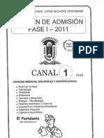 UNJBG - FASE 1 - 2011 - CANAL 1