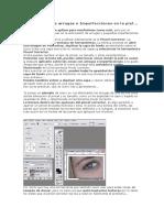 Phothoshop- Eliminación de arrugas e Imperfecciones en la piel