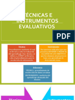 Técnicas e instrumentos evaluativos