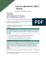 Regras Básicas do Laboratório e EPI e EPC (Profª Jéssica)