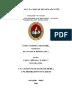 exposicion carta credito y warrant