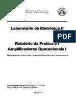 Relatório - Prática 01 Amp Ops 1