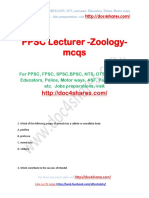 PPSC Lecturer -Zoology-mcqs
