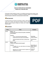 PROGRAMA DE FORMACIÓN DE ANIMADORES