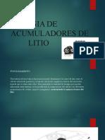 ENERGIA DE ACUMULADORES DE              LITIO
