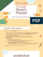 Second Grade Weekly Planner by Slidesgo.pptx