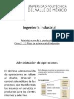 Clase 1   1.1 Tipos de sistemas de producción