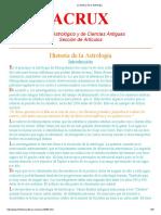 HISTORIA DE LA ASTROLOGIA