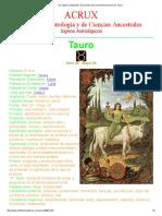 Los Signos Zodiacales. El principio del conocimiento personal. Tauro