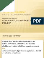 Advanced fluid mechanics class project
