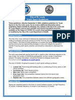 St. Louis City youth sports guidelines