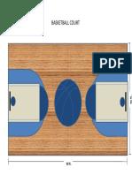 Basketball Court Design Made via Microsoft PowerPoint