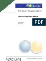 Livelink WCM 9.5 SystemIntegration_en