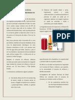 CAUSAS Y EFECTOS EN EL CONSUMO DE AGUA Y REFRESCOS