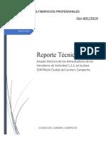 REPORTE TECNICO DE LOS ALIMENTADORES EN LOS VARIADORES