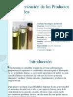 Caracterización de los Productos Enlatados