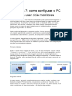 Windows 7 como configurar o PC para usar dois monitores