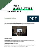 Brochure Applying Data Analytics for Finance April 13