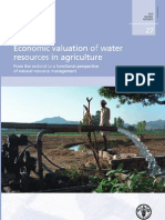 Valuation of Water in Agriculture