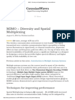 MIMO – Diversity and Spatial Multiplexing – GaussianWaves