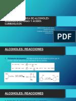Alcoholes, aldehídos, cetonas y ácidos carboxilicos