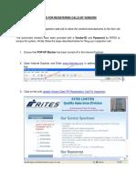 STEPS FOR REGISTERING CALLS BY VENDORS.pdf