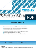 MARKETING AND SALES STRATEGIES OF WRIGLEY