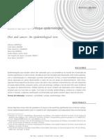 Dieta e câncer um enfoque epidemiológico
