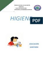 educación sanitaria plan