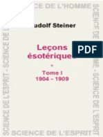 Lecons esoteriques Tome I - Steiner, Rudolf