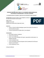 JORNADA PREPARATORIA PARA EL VIII CONGRESO IBEROAMERICANO DE DOCENCIA UNIVERSITRIA Y DE NIVEL SUPERIOR