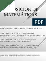 Exposición de matemáticas