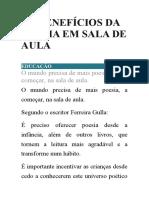 OS BENEFÍCIOS DA POESIA EM SALA DE AULA