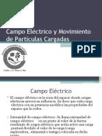 campo electrico y movimiento de particulas cargadas